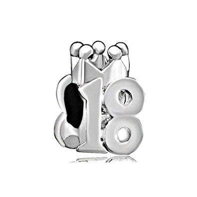 Pandora 18th Birthday Number Charm