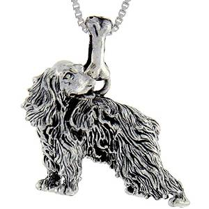 Cocker Spaniel Charm Jewelry Sterling Silver Handmade Dog Charm CK20T-C